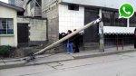 WhatsApp: vecinos deben vivir con poste a punto de caer [FOTOS] - Noticias de cerro de pasco