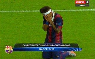 El llanto de Neymar tras ganar su primera Champions (VIDEO)