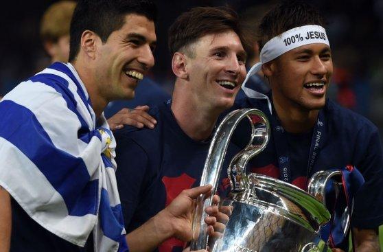 El entusiasmo de Lionel Messi tras ganar la Champions League
