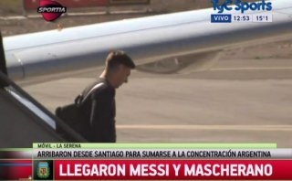 Lionel Messi arribó a Chile para la Copa América 2015