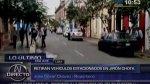 Dirincri: autos mal estacionados en Jr. Chota fueron retirados - Noticias de prostitución