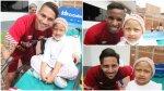 Selección: un gesto solidario por los niños con cáncer (FOTOS) - Noticias de cáncer infantil