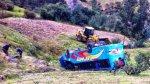 Áncash: un fallecido y 18 heridos dejó vuelco de bus a abismo - Noticias de placas de rodaje