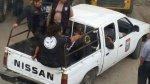 Fiscalizadores viajan en tolva de vehículos sin placa de rodaje - Noticias de papeletas de transito