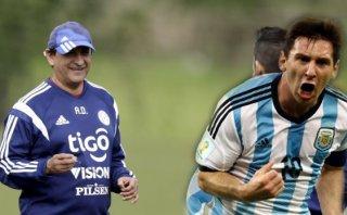 """Técnico de Paraguay: """"Dependemos de cómo se levante Messi"""""""