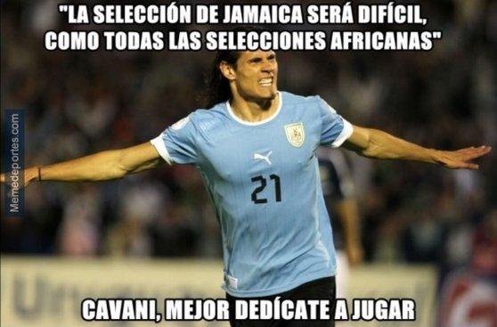 Edinson Cavani: los memes tras decir que Jamaica es africano