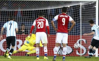 Lionel Messi: de penal marcó su primer gol en esta Copa América