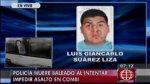 Policía murió al tratar de frustar robo a combi en Ate - Noticias de comisaría de huaycán