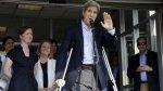 Así dejó John Kerry el hospital tras fractura de fémur [FOTOS] - Noticias de mohammad javad zarif