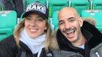 Perú vs. Brasil: Ricardo Morán y Joanna Boloña en el estadio - Noticias de joanna bolona