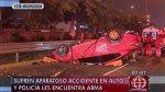 Javier Prado: estaban ebrios, volcaron su auto y tenían un arma - Noticias de vanessa castillo