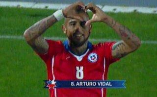 Selección chilena: Arturo Vidal y su doblete ante México
