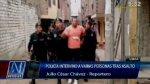 Policía intervino a 11 personas en quinta del Jr. Cárcamo - Noticias de banda de asaltantes|