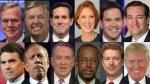 Elecciones EE.UU.: Conoce a los 12 candidatos republicanos - Noticias de reforma migratoria