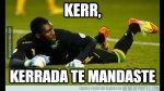 Memes de portero Kerr tras 'blooper' en derrota de Jamaica - Noticias de edgar wright
