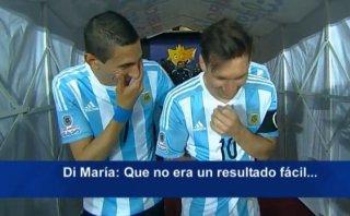 Messi y Di María: video revela de quién se reían realmente