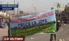 La Joya: manifestantes bloquearon tránsito en Panamericana Sur