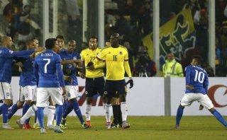 Brasil vs. Colombia acabó en gresca y con Neymar expulsado
