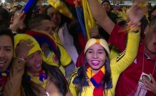 Hinchas colombianos celebran victoria ante Brasil [VIDEO]