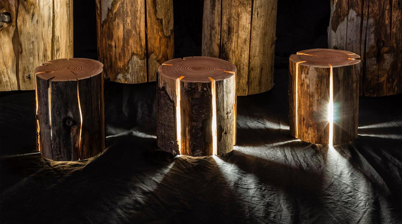 Dale un aspecto r stico a tu terraza con un tronco - Fuentes de piedra rusticas ...