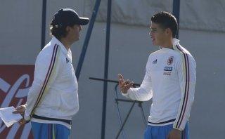 ¿James lesionado? Colombiano entrenó de manera diferenciada