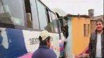 Independencia: coaster chocó contra vivienda y dejó dos heridos - Noticias de papeletas de tránsito