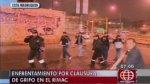 Rímac: violento enfrentamiento por cierre de grifo en Caquetá - Noticias de vía parque rímac