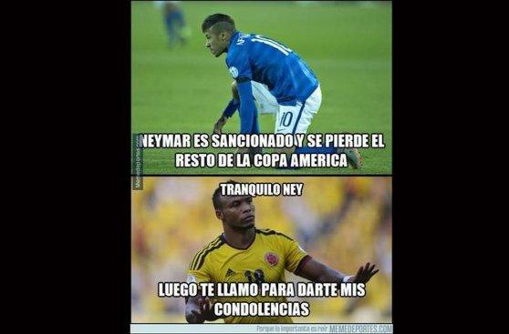 Copa América: los memes sobre Neymar tras recibir dura sanción