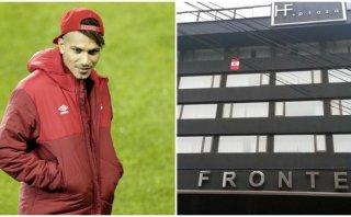Paolo Guerrero puso bandera peruana en fachada del hotel
