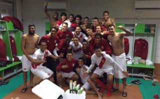 Selección peruana: la foto de vestuario tras la clasificación
