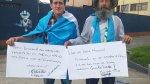 Anciano caminó 300 km para exigir renuncia de su presidente - Noticias de huelga