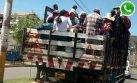 WhatsApp: viajan en camión de carga hacia Baños del Inca