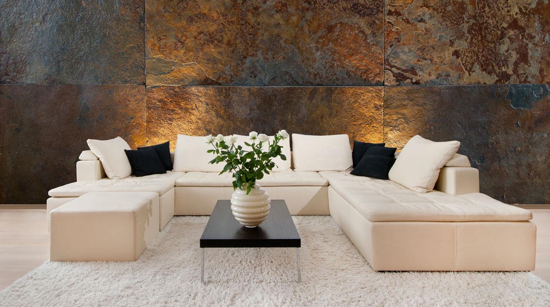 Dale a tu hogar otro look con paredes de piedra ideas y - Piedra falsa para pared ...