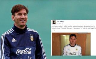 Lionel Messi agradeció a sus fans por los saludos de cumpleaños
