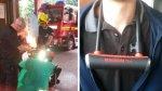 Despierta ebrio con un candado de bicicleta en el cuello - Noticias de estación de bomberos