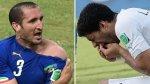 Luis Suárez vs Chiellini: a un año del mordisco en Brasil 2014 - Noticias de luis suarez