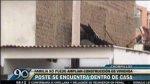 Chorrillos: poste de alumbrado público está dentro de una casa - Noticias de olimpia