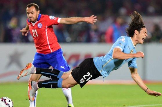 Chile vs. Uruguay: partido cargado de faltas y enfrentamientos