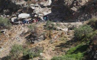 Huarochirí: bombero queda herido de gravedad tras caer a abismo