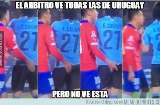Chile vs. Uruguay: Gonzalo Jara y Cavani protagonistas de memes