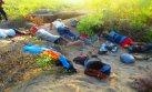 Detienen a cinco sujetos profanando antiguo cementerio Mochica