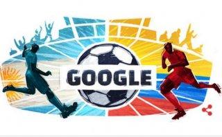 Google: 'Doodle' del Argentina vs. Colombia por Copa América