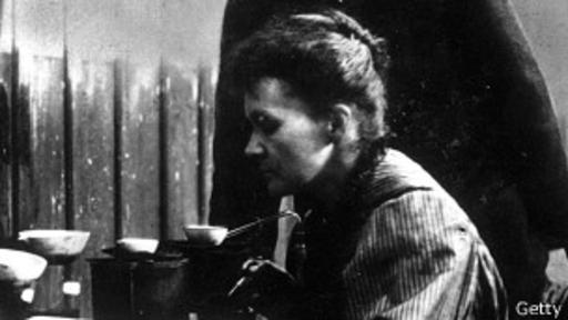 Marie Curie, una de las pocas científicas reconocidas mundialmente.
