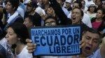 """""""Ecuador no es Venezuela"""", gritan miles de opositores a Correa - Noticias de jaime nebot"""