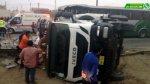 Panamerica Sur: fuerte congestión por choque de bus y camión - Noticias de policía de tránsito