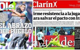 "Argentina avanzó a semis con ""sufrimiento"", dice prensa local"