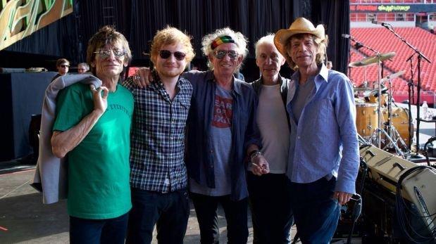 Ed Sheeran cantó con los Rolling Stones