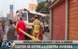 San Borja: 10 heridos por coaster que se estrelló contra casa