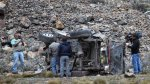 Dos muertos por choque de vehículo contra baranda protectora - Noticias de quinua san francisco