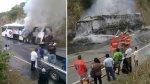 Bus del Grupo 5 quedó calcinado: músicos se salvaron de morir - Noticias de andy yaipen